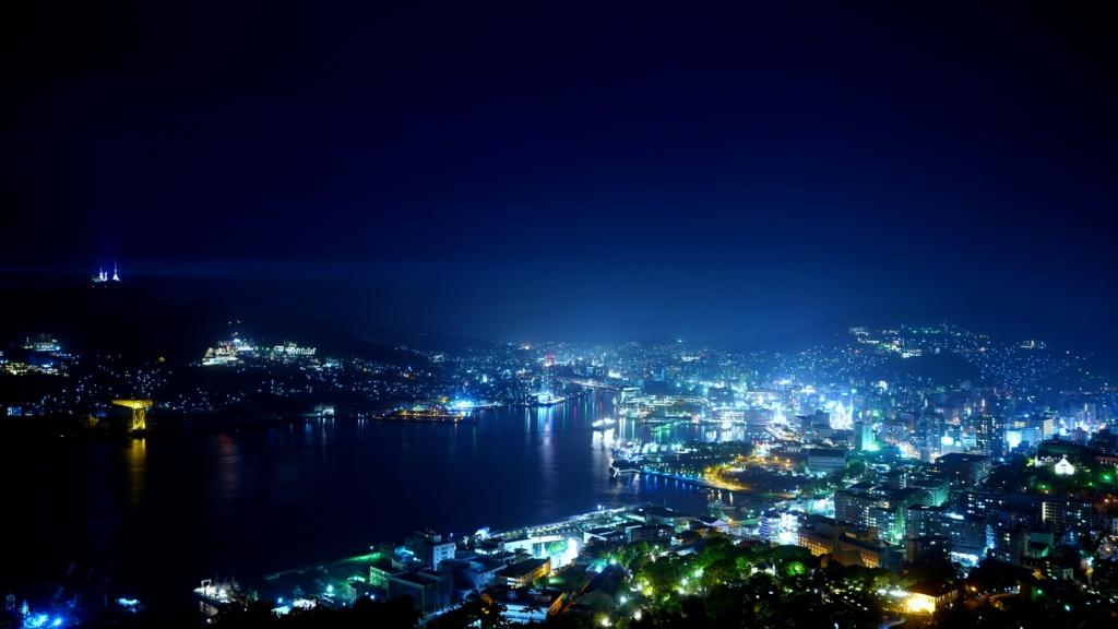 長崎県 鍋冠山公園 展望台 夜景
