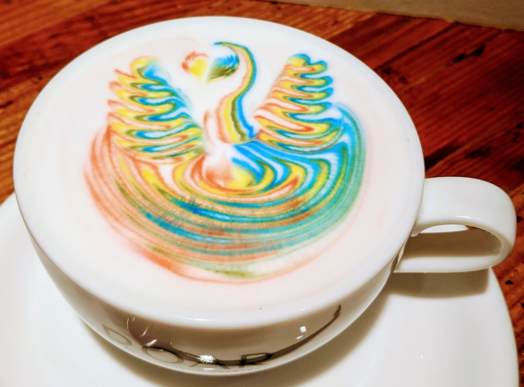 ROAR COFFEEHOUSE & ROASTERY 八丁堀 コーヒー レインボーラテ
